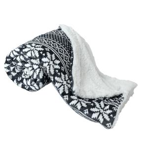 Obojstranná baránková deka, zimný motív, 150x200, MALENA