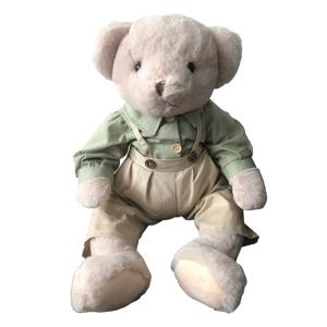 Plyšový medvedík, smotanová/zelená, 65cm, MADEN BOY TYP2