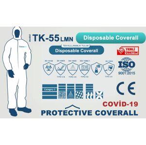 Ochranný profi celooblek T5 / T6 INOVASTIL 55g / m2 XL - biely