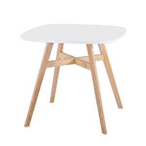 Jedálenský stôl, prírodné nohy/biela, DEJAN NEW, poškodený tovar