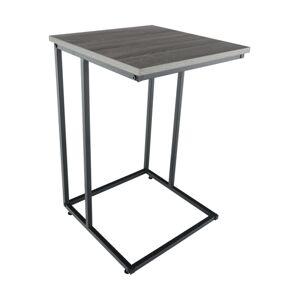 Príručný stolík, dub/čierna, KALA, rozbalený tovar