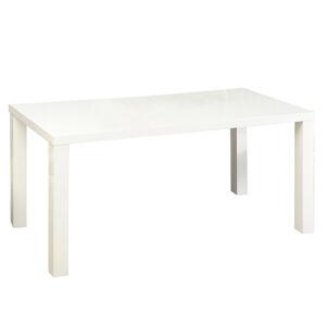 Jedálenský stôl, biela vysoký lesk HG, ASPER TYP 2