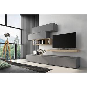 Obývacia stena, sivá/dub san remo, KORFU