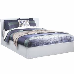 Manželská posteľ s úložným priestorom, biela, 180x200, KERALA, rozbalený tovar
