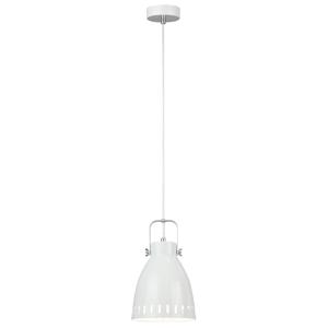 Visiaca lampa, biela/kov, AIDEN TYP3