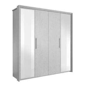 Skriňa so zrkadlom, ABS hrany, sivý betón, ALDEN