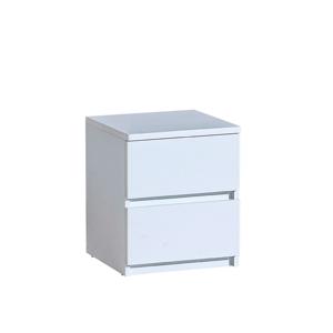 2-šuplíkový nočný stolík, biela arktická, ARTEMIA