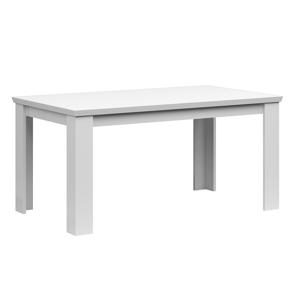 Rozkladací jedálenský stôl, 160/200cm, biela, ARYAN