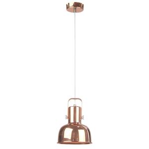 Visiaca lampa v retro štýle, kov, rose gold, AVIER TYP 3