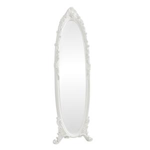 Stojanové zrkadlo, biela, ANTIME