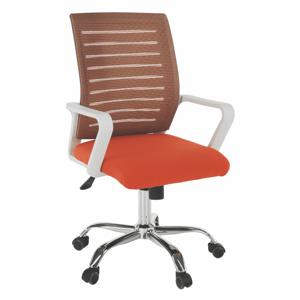 Kancelárske kreslo, biela/oranžová, CAGE