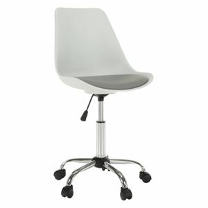 Kancelárska stolička, biela/sivá, DARISA