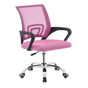 Kancelárska stolička, ružová/čierna, DEX 2 NEW