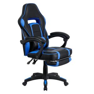 Kancelárske/herné kreslo, modrá/čierna, GUNNER