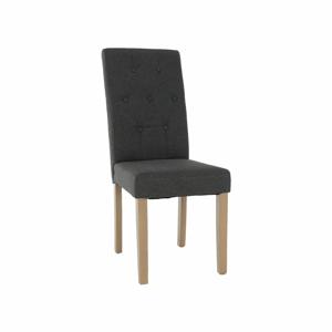 Jedálenská stolička, sivá/svetlý buk, JANIRA