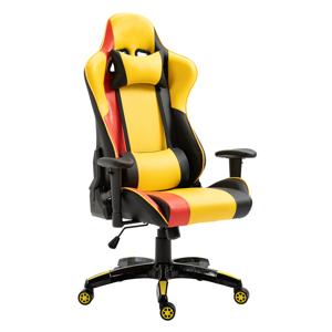 Kancelárske/herné kreslo, žltá/čierna/oranžová, SOLERO
