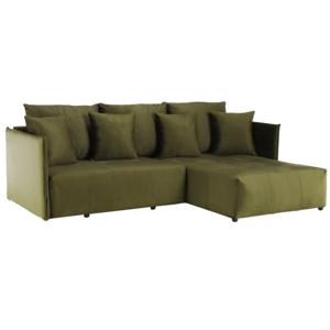 Univerzálna sedacia súprava, olivovozelená, LENY ROH