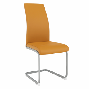 Jedálenská stolička, horčicová/sivá, NOBATA
