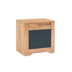 Nočný stolík, dub craft zlatý/grafit sivá, ľavá, FIDEL X1