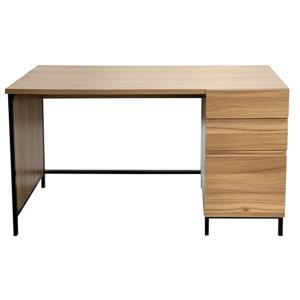 Písací stôl, dub/čierna, ALYSANDRA TYP 3