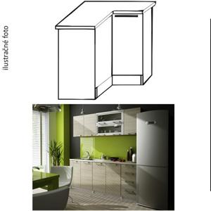 Kuchynská skrinka rohová, ľavá, dub sonoma, IRYS DN-80