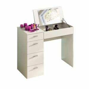 Toaletný stolík, toaletka, biela, BELINA
