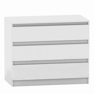 3 šuplíková komoda, biela, HANY NEW 003
