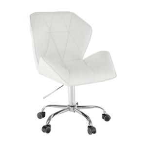 Kancelárske kreslo, biela ekokoža, TWIST, rozbalený tovar