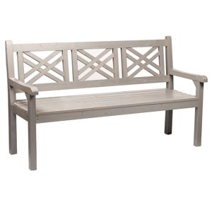 Drevená záhradná lavička, sivá, 150 cm, FABLA